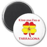 Personalized Spanish Kiss Me I'm Tarragona Refrigerator Magnet