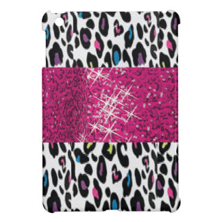 Personalized SPARKLE Pink and Cheetah Background Cover For The iPad Mini