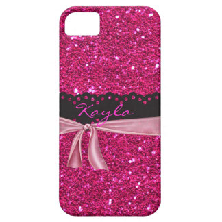 Personalized Sparkled PINK I phone 5 Case iPhone 5 Case