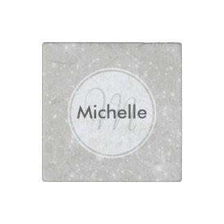 Personalized Sparkles in the Night Sky Stone Magnet