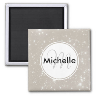 Personalized Sparkles in the Night Sky Magnet
