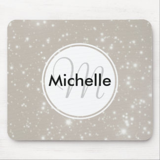 Personalized Sparkles in the Night Sky Mouse Pad