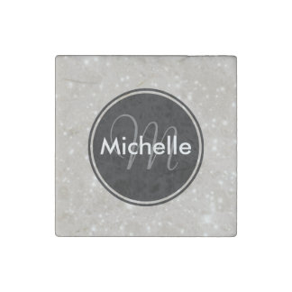 Personalized Sparkles in the Sky Stone Magnet