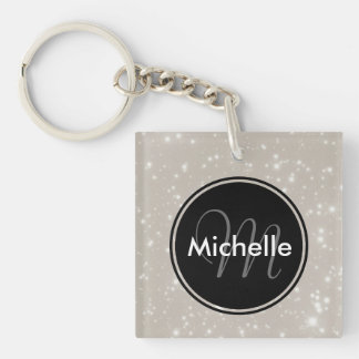 Personalized Sparkles in the Sky Keychain