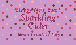 personalized sparkling apple cider wine gift label