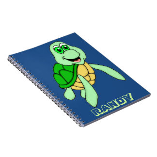 Personalized Speedy Turtle Spiral Notebook