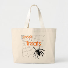 Personalized Spider Halloween Treat Bag at Zazzle