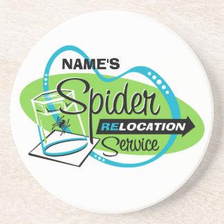PERSONALIZED Spider Relocation Service Sandstone Coaster