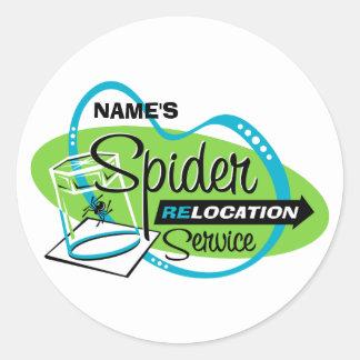 PERSONALIZED Spider Relocation Service Sticker