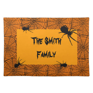 Personalized Spiders And Webs Placemat
