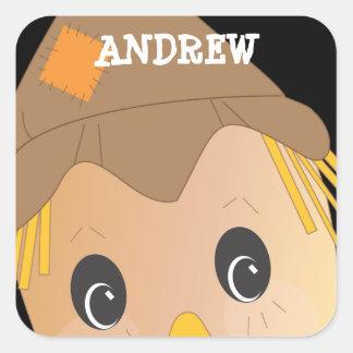 Personalized Spooky Scarecrow Halloween Sticker