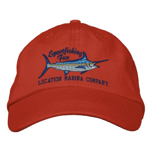 Personalized Sport Fishing Blue Marlin Embroidery Embroidered Baseball Hat 3ea9a7a3447d