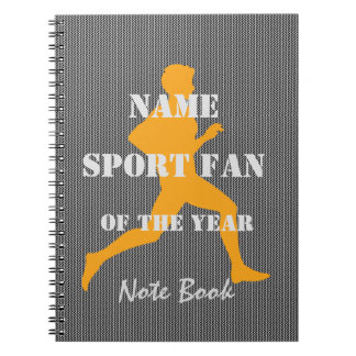 Personalized Sport Jogger of the Year Note Book