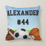 Personalized Sports All-Star Custom Name Pillow