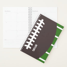 Personalized Sports American Football / Rugby Planner