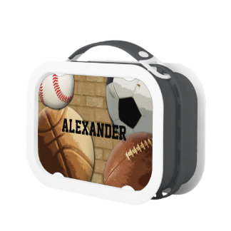 Personalized Sports Balls All-Star Lunch Box
