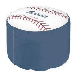 Personalized Sports Baseball Pillow Ottoman Pouf