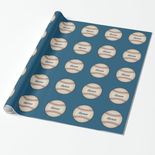 Personalized Sports Baseball Wrapping Paper