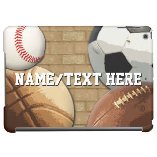Personalized Sports Boys Soccer/Football/All-Star iPad Air Cover