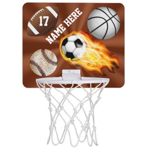 Personalized Sports Gifts For Kids Mini Hoop Mini Basketball Backboard Zazzle