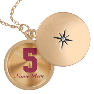 Personalized Sports Number Necklaces for Women