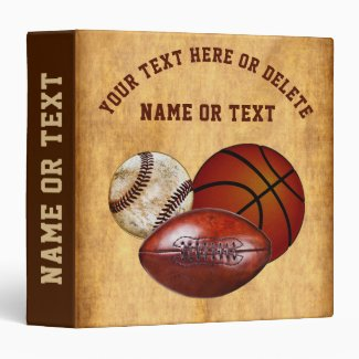 Personalized Sports Photo Album Binder, Your Text 3 Ring Binder