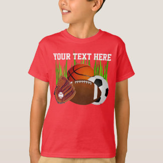 Personalized Sports Shirts for Boys Lots of Sports