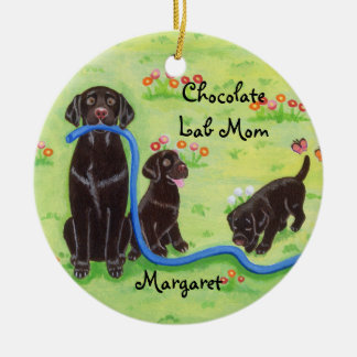 Personalized Spring Fun Labradors Painting Christmas Ornaments