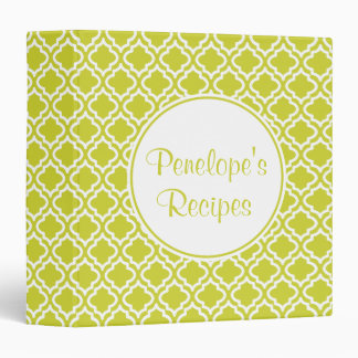 Personalized  Spring Green  Recipe Binder