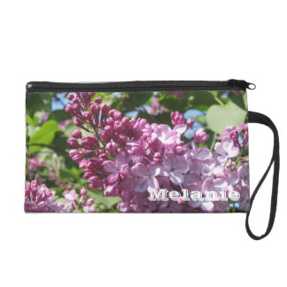 Personalized Spring Lilacs Wristlet