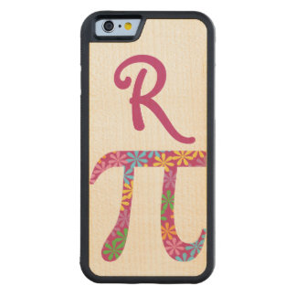 Personalized Spring Pi Pink Monogrammed Carved® Maple iPhone 6 Bumper