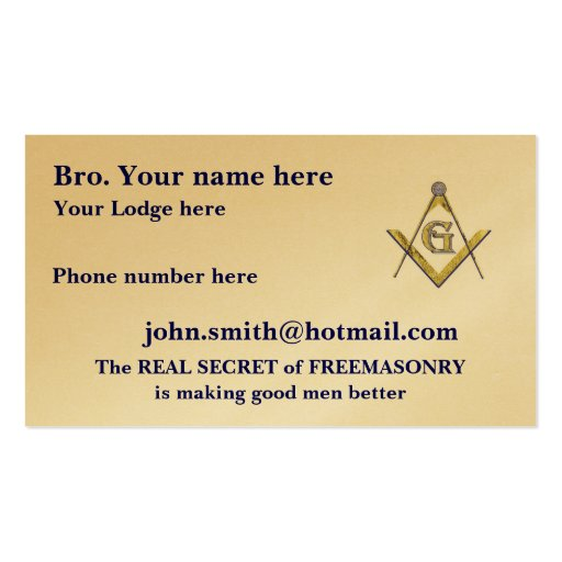 Free mason business card templates bizcardstudio personalized square and compasses masonic business card template reheart Image collections