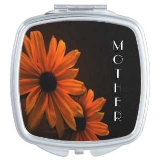 Personalized Square Compact Mirror/Daisy Vanity Mirrors