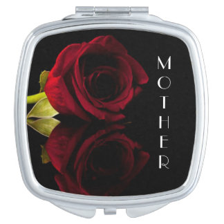 Personalized Square Compact Mirror/Flower Makeup Mirror