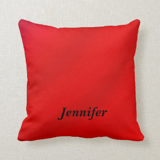 Personalized Square Pillow Red Gradient