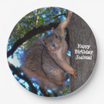 Personalized Squirrel Paper Plates