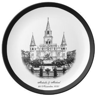 Personalized St Louis Cathedral Porcelain Plate