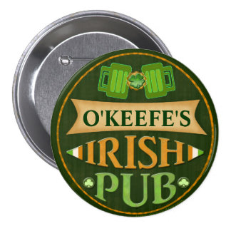 Personalized St. Patrick's Day Irish Pub Button
