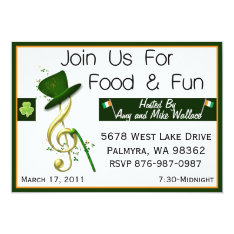 Personalized St. Patrick's Day Party Invitations at Zazzle