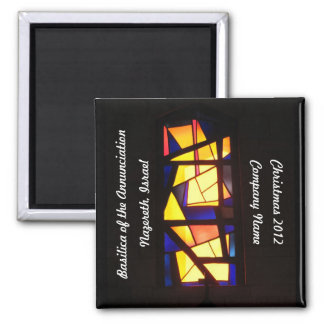 Personalized Stained Glass Window Magnet 2
