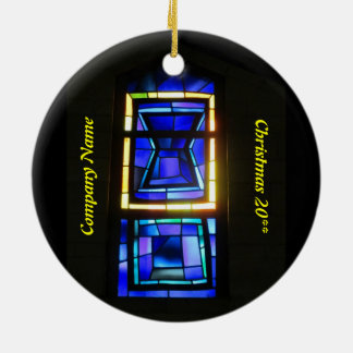 Personalized Stained Glass Window Ornament