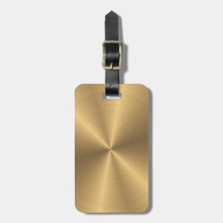 Personalized Stainless Steel Gold Metallic Radial Bag Tag