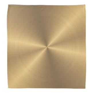 Personalized Stainless Steel Gold Metallic Radial Bandana