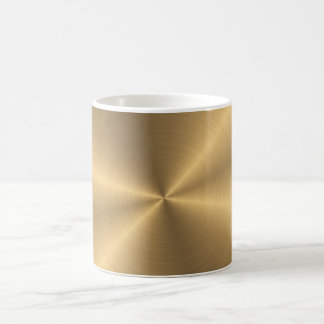 Personalized Stainless Steel Gold Metallic Radial Coffee Mug