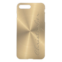 Personalized Stainless Steel Gold Metallic Radial iPhone 8 Plus/7 Plus Case