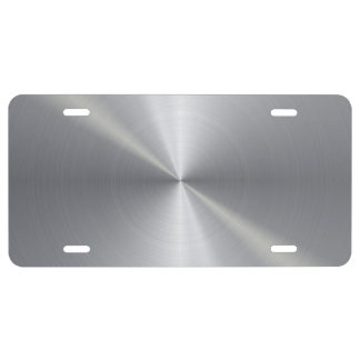 Personalized Stainless Steel Metallic Radial 2 License Plate