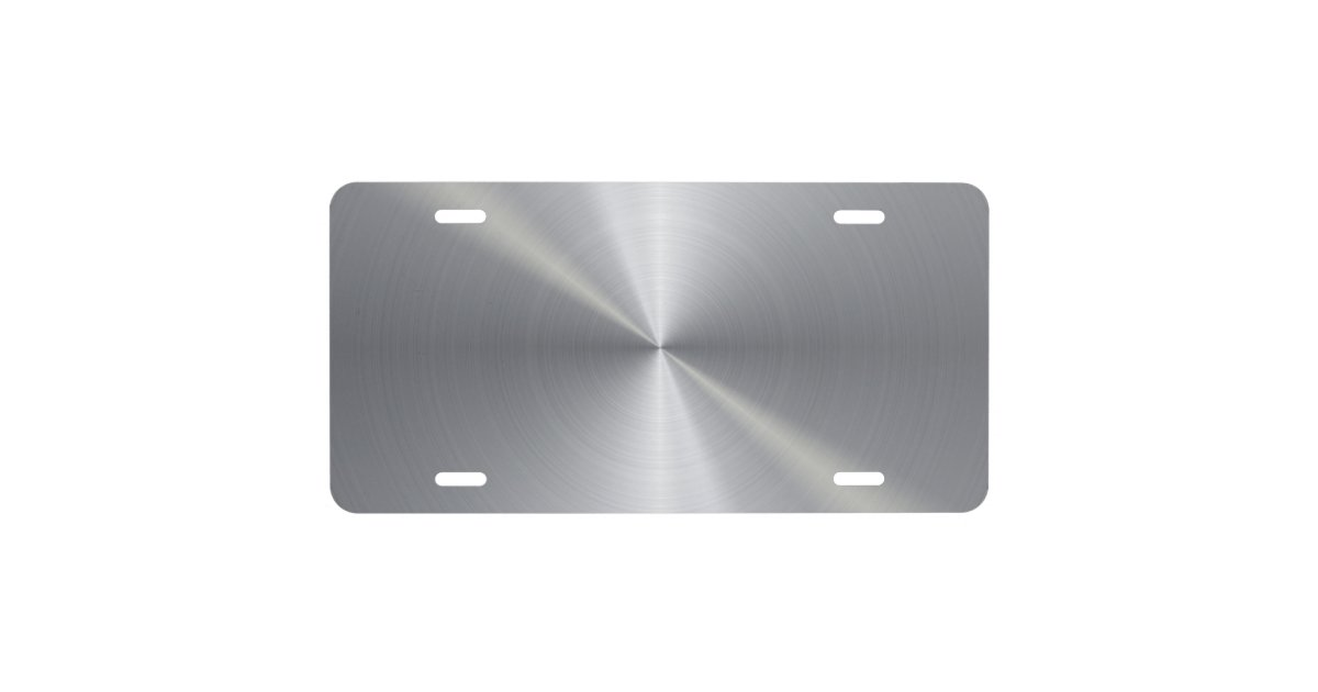 Personalized Stainless Steel Metallic Radial 2 License Plate Zazzle