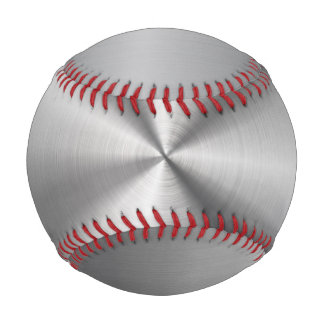 Personalized Stainless Steel Metallic Radial Look Baseball