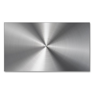 Personalized Stainless Steel Metallic Radial Look Business Card Magnet
