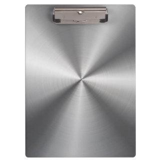 Personalized Stainless Steel Metallic Radial Look Clipboard